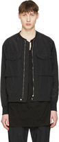 Undecorated Man Black Nylon-blend Bomber Jacket