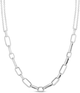 Sphera Milano 14K Over Silver Link Chain Necklace