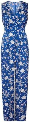 Yumi Satin Flower Print Jumpsuit