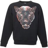 Marcelo Burlon County of Milan Printed Puma Black Cotton Sweater