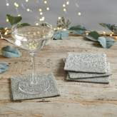 The White Company Glass Beaded Coasters - Set of 4