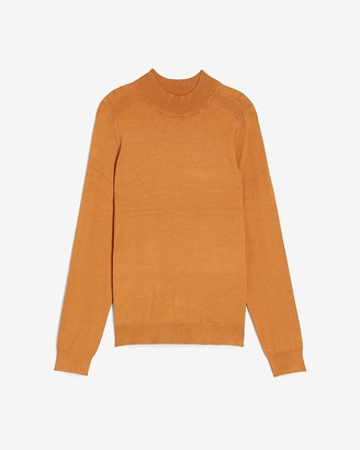 Express Rayon Stretch Mini Mock Neck Sweater