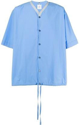Oamc Collarless Drawstring Shirt