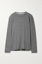 Thumbnail for your product : FRANCES DE LOURDES Marlon Slub Cashmere And Cotton-blend Top - Gray
