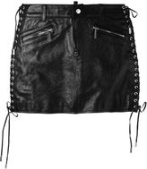 DSQUARED2 lace detail mini skirt - women - Calf Leather/Polyester/Viscose - 40