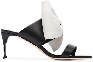 Alexander McQueen Pin Heel 65 Bow Mules