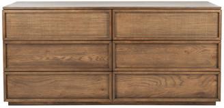 Safavieh Zeus 6 Drawer Wood Dresser, Natural