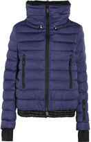 Moncler Vonne Hooded Quilted Down Jacket - Navy