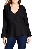 City Chic Plus Size Women's Button Up Top
