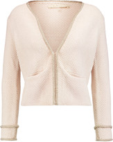 Maje Majordome embellished knitted cardigan