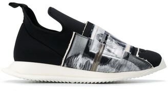 Rick Owens printed front sneakers