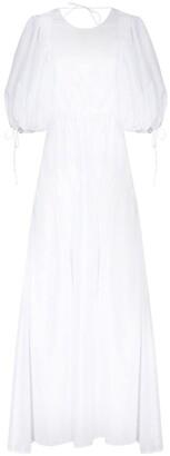 Cecilie Bahnsen Lara pouf-sleeve tiered dress