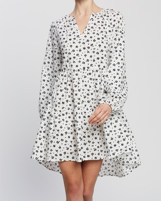 Atmos & Here Atmos&Here - Women's White Mini Dresses - Minette Mini Dress - Size 6 at The Iconic