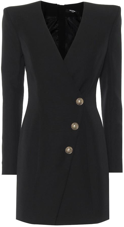 Balmain Wool-crepe dress