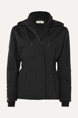 Fendi Hooded Quilted Shell Jacket - Black