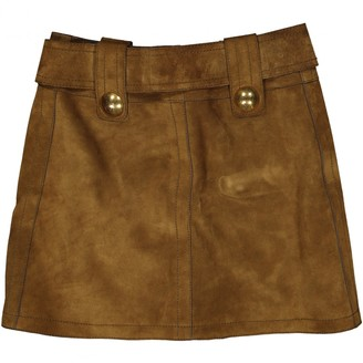 Gucci Camel Suede Skirt for Women