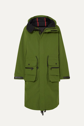 TEMPLA 2l Bio Moss Hooded Padded Canvas Parka - Green