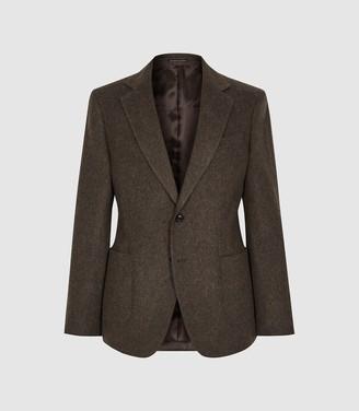 Vienna - Wool Blend Modern Fit Blazer in Brown