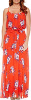 Robbie Bee Sleeveless Floral Maxi Dress-Petites