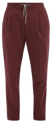 Brunello Cucinelli Stretch Cotton-blend Chino Trousers - Burgundy