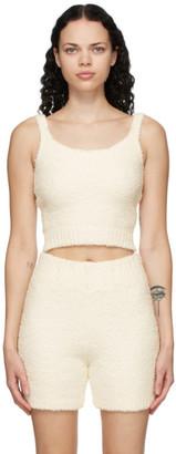 SKIMS Off-White Knit Cozy Tank Top