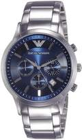 Emporio Armani Men's Classic Dial Chronograph Watch Blue AR2448