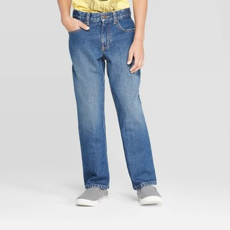Cat & Jack Boys' Relaxed Straight Fit Jeans - Cat & JackTM Medium Wash