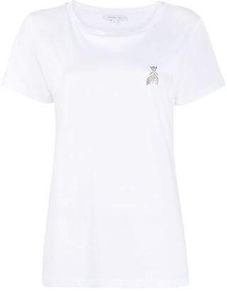 Patrizia Pepe crystal logo cotton T-shirt