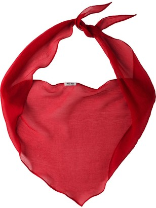 Miu Miu basic chiffon scarf