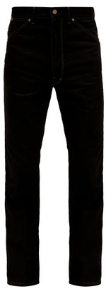 Lemaire Bootcut Pressed-crease Denim Trousers - Mens - Black