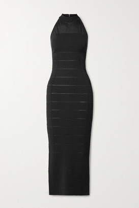 Herve Leger Bandage Halterneck Gown - Black
