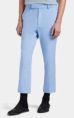 Haider Ackermann Men's Fleece Wool Slim Crop Trousers - Blue