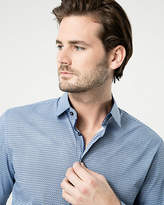 Le Château Printed Cotton Blend Tailored Fit Shirt