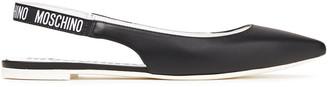 Moschino Leather Slingback Point-toe Flats