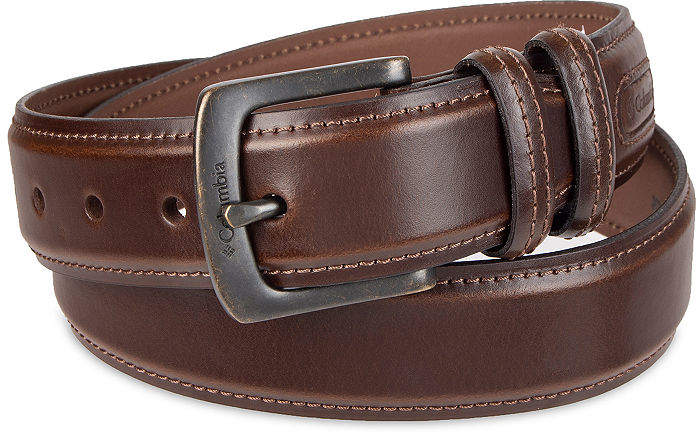 Columbia Leather Casual Men's Belt with Double Keeper