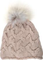 Inverni Short Cable Stitch cashmere Hat