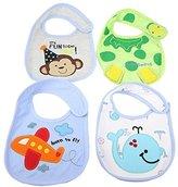 Artempo Waterproof Baby Bibs with Velcro Pack of 4
