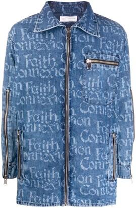 Faith Connexion Logo Zipped Denim Shirt