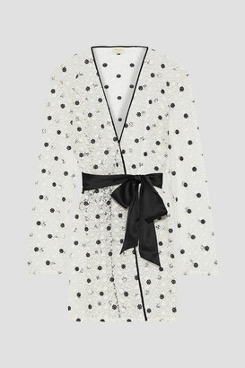 Myla Bloomsbury Belted Embroidered Lace Robe