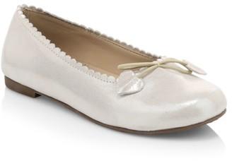 Elephantito Little Girl's & Girl's Metallic Leather Ballet Flats