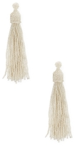 Kenneth Jay Lane Bead Tassel Statement Earrings