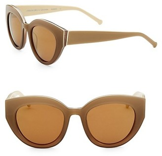 Colors In Optics Carnavale Thick Plastic Cat Eye Sunglasses