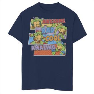 Nickelodeon Boys 8-20 Graphic Teenage Mutant Ninja Turtles Awesome Panels Graphic Tee