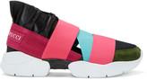 Emilio Pucci Pink & Black Colorblock Slip-On Sneakers
