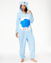 Briefly Stated Care Bear Fuzzy Hooded Jumpsuit