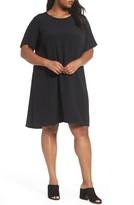 Eileen Fisher Plus Size Women's Tencel Blend Jersey Shift Dress