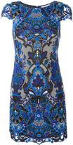 Alice + Olivia Alice+Olivia - macramé lace mini dress - women - Polyester/Spandex/Elastane - 2