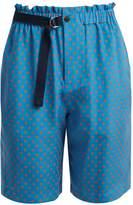 Joseph Louis polka-dot print silk-chiffon shorts
