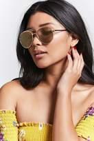 Forever 21 FOREVER 21+ Mirrored Aviator Sunglasses