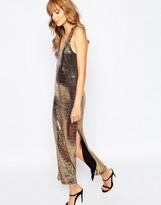 Vila Sequin Low Back Maxi Dress